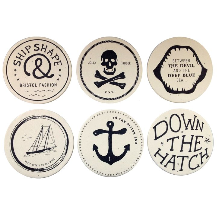 this set of drunken sailor coasters from izola includes six coasters you can get these coasters in one of four available themes - Cool Coasters
