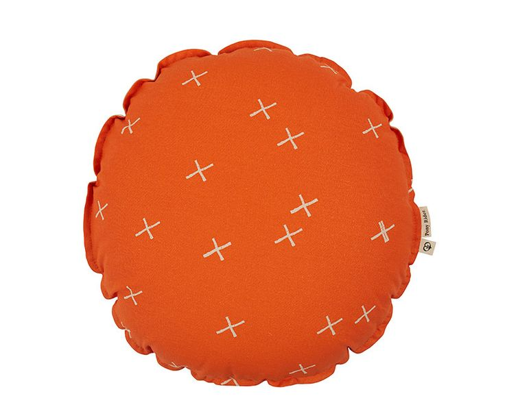 Little Plus Cushion - Orange | Round Cushion | Pony Rider