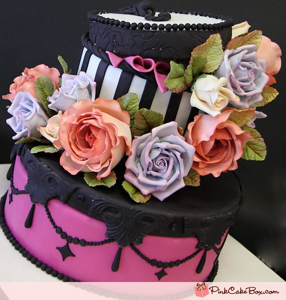 hat box cakes | Happy Birthday Cakes » Pink Cake Box Custom