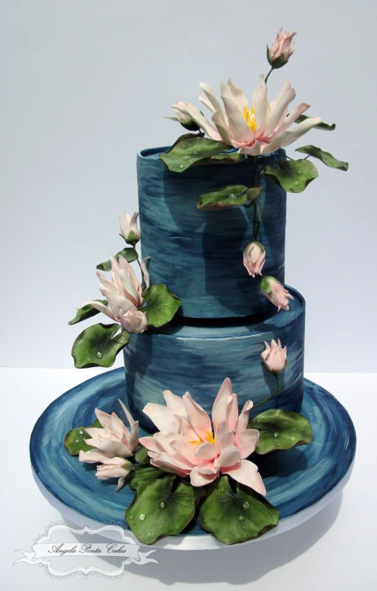 Cake Art Jeddah : 63 best images about Pond Cakes on Pinterest Water pond ...