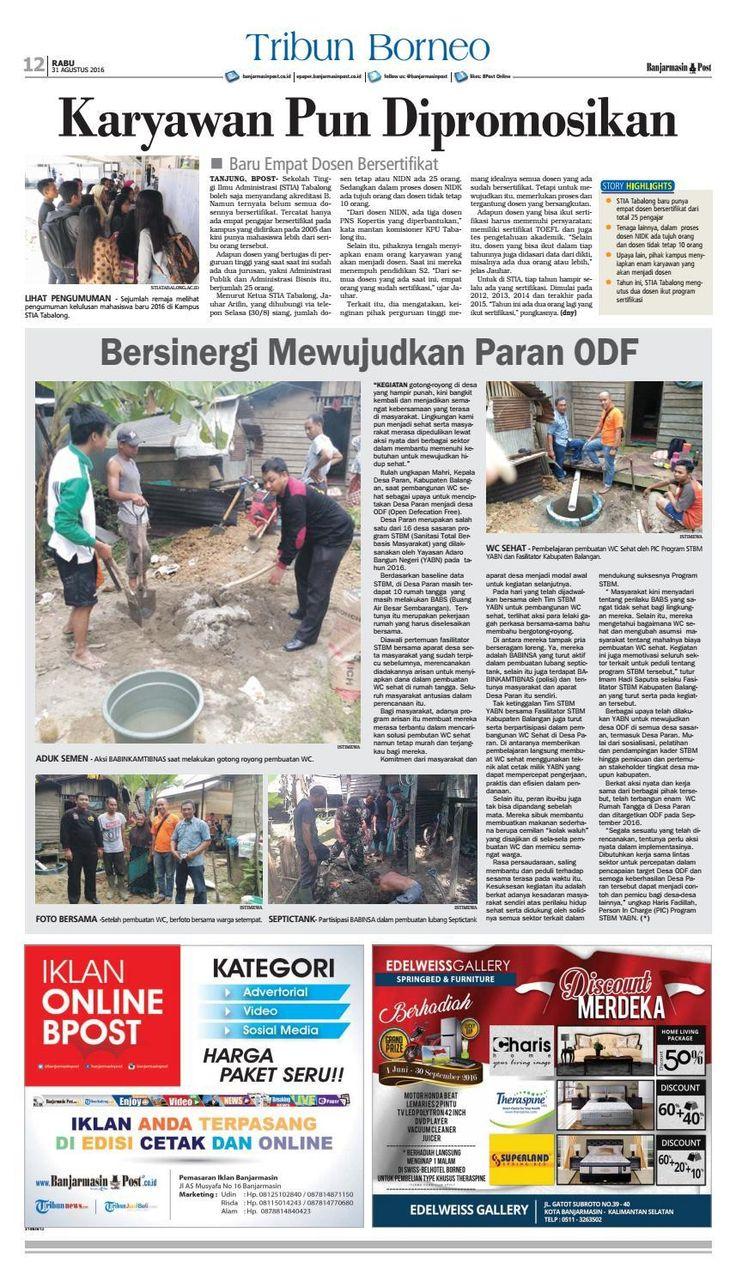 #ClippedOnIssuu from Banjarmasin Post Rabu 31 Agustus 2016