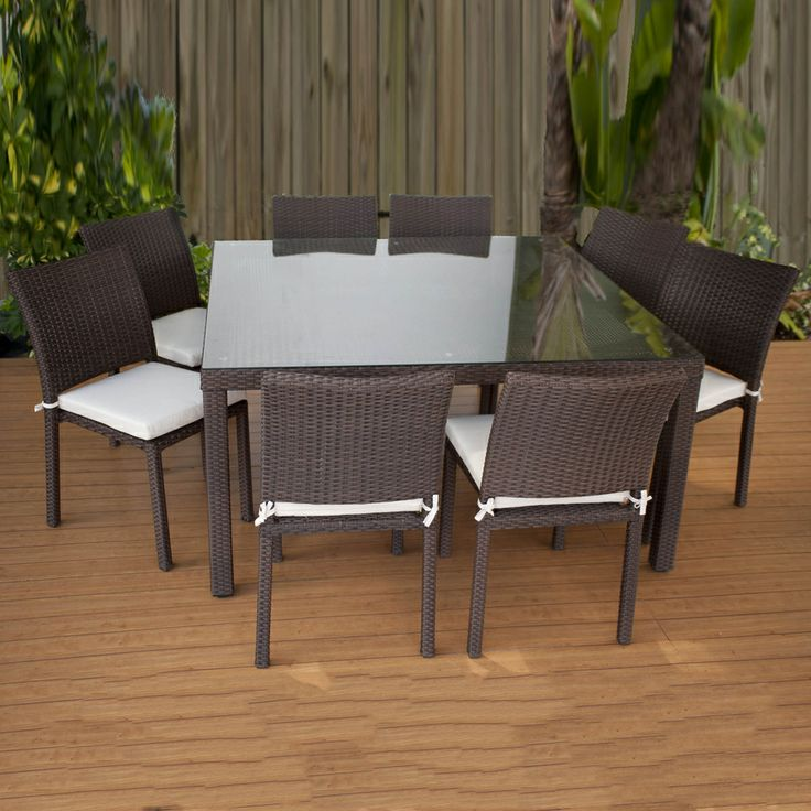 Shop International Home 9 Piece Cushioned Wicker Solid Patio Dining Set At  Lowes.com