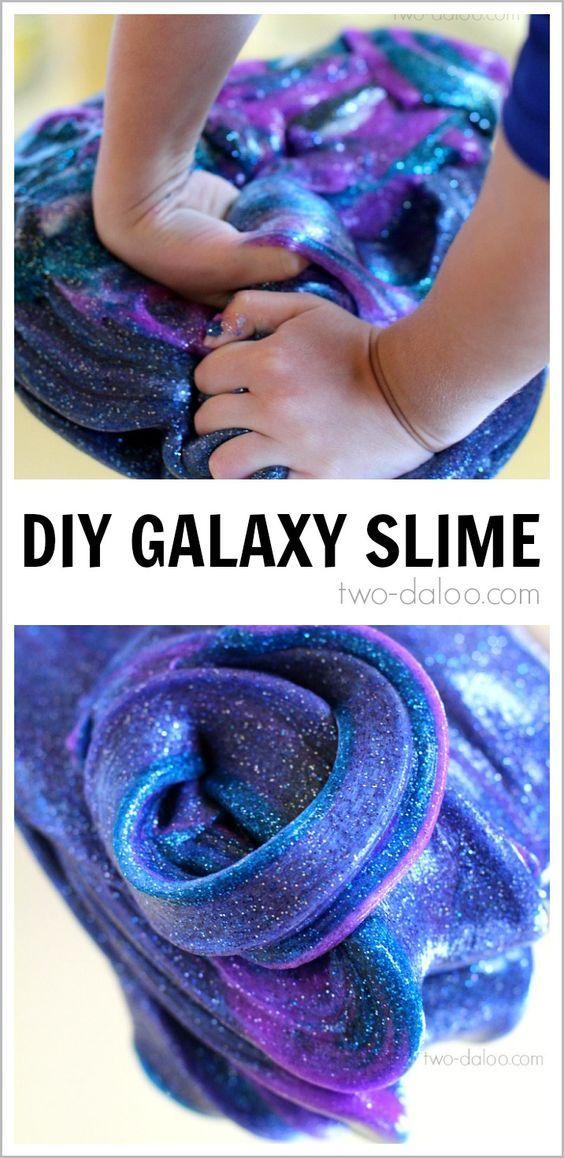 DIY Galaxy Slime!! So cool!!