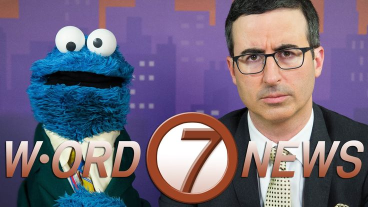 'W-ORD Channel 7 News', A Word-Themed News Broadcast Hosted by John Oliver and Cookie Monster