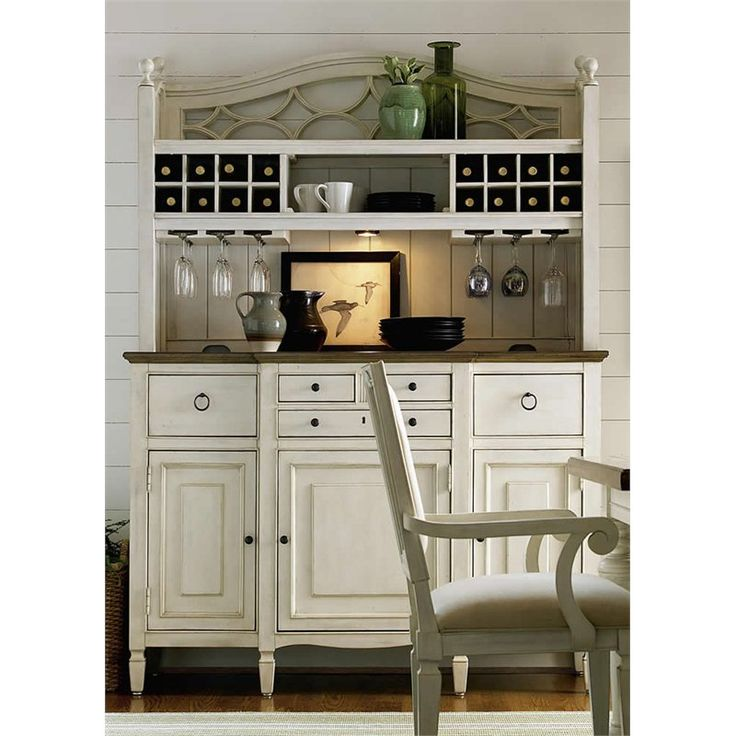 Lowest price online on all Universal Furniture Summer Hill Buffet with Bar Hutch in Cotton - 987670C