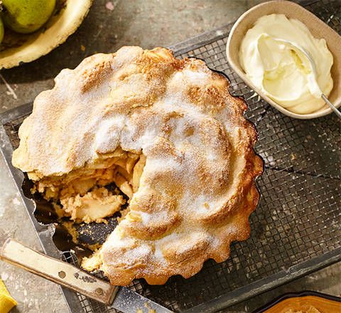 Classic apple pie: Is there anything more comforting than a slice of this traditional favourite with a dollop of cream? We'll take a large piece, please!