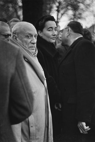 By Marc Riboud. Picasso at the burial of Paul Eluard, 1 9 5 2.