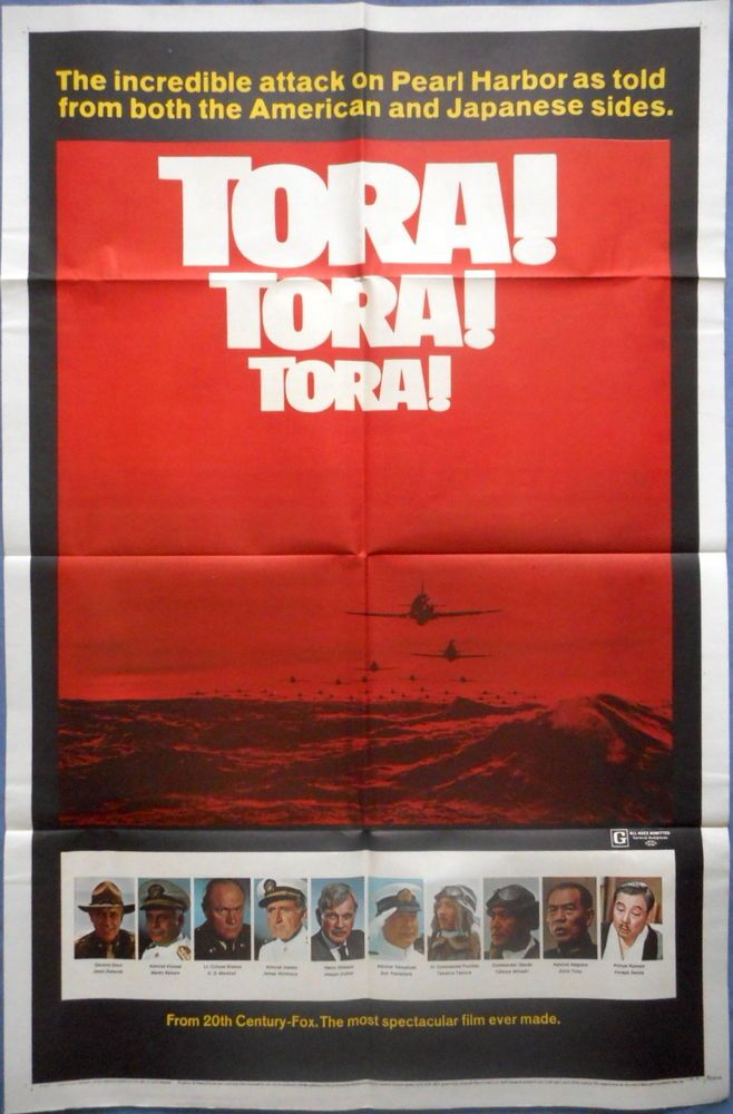 TORA TORA TORA! MOVIE POSTER WWII Hawaii Pearl Harbor Attack 1sht Style B 1970