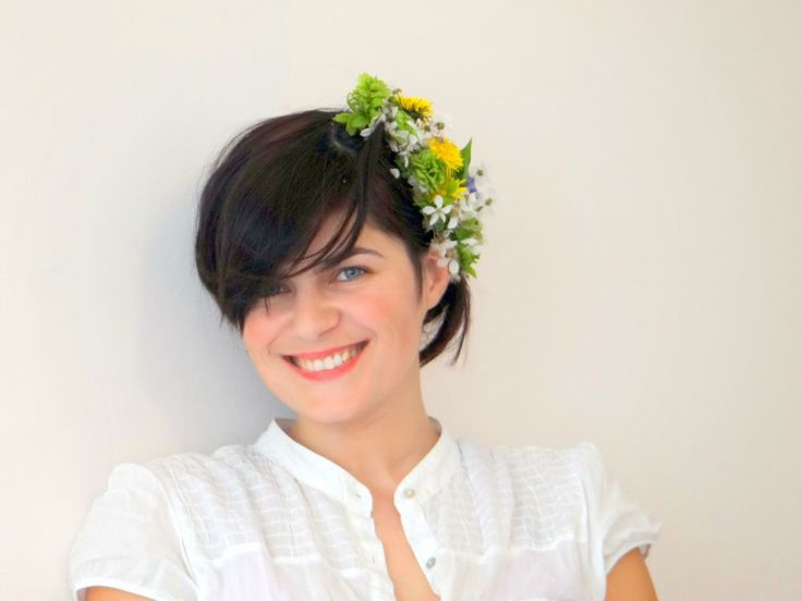 DIY: Headpiece Spring flowers - the Kity shoes