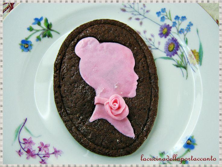 Cammei al cioccolato fondente lacucinadellaportaccanto,blogspot.it