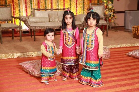 Pakistani kids at wedding