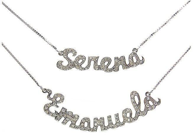 Collana argento e zirconi