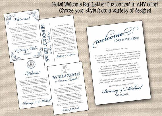 Wedding Welcome Letters Printed // Wedding by PrimroseAndPark