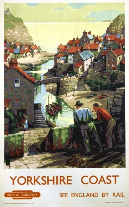 1950s Yorkshire Coast (Staithes) by John Bee
