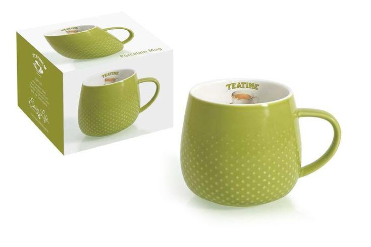 Кружка из фарфора «Капли дождя» (оливковая)      Бренд: Easy Life (Nuova R2S) (Италия);   Страна производства: Китай;   Материал: фарфор;   Коллекция: Капли дождя;   Объем: 0,32 л;          #tea #porcelain #фарфор #посуда #чай