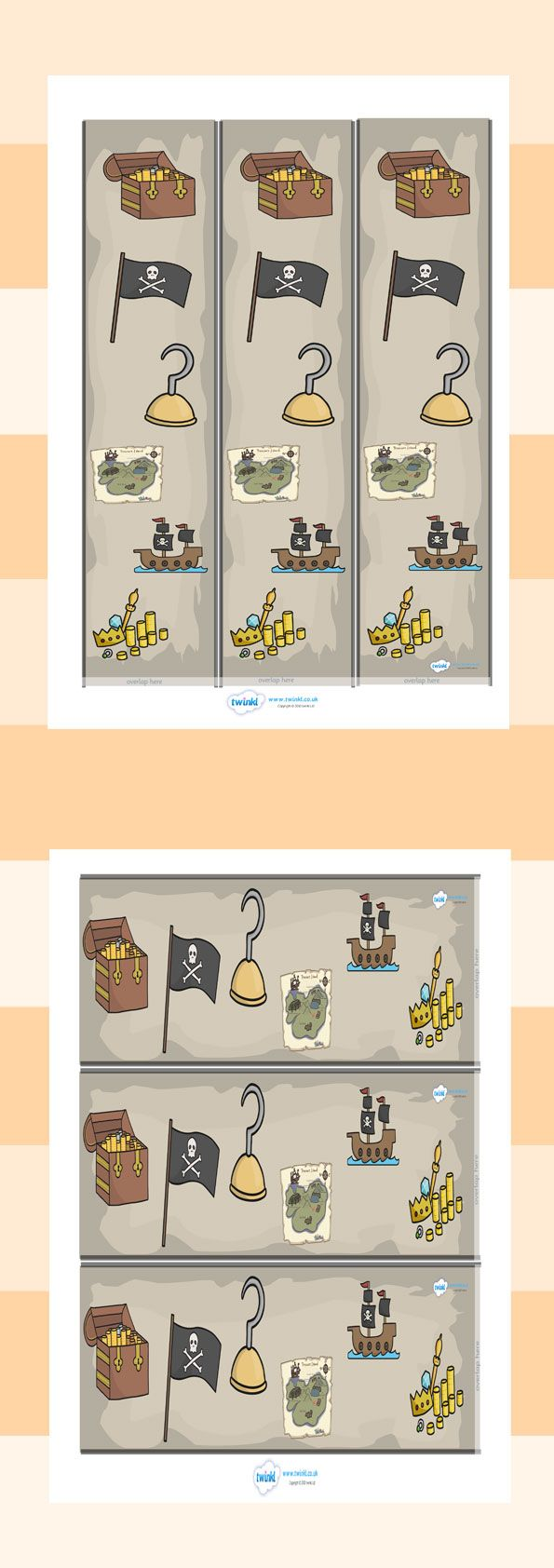 Twinkl Resources >> Pirates Display Borders >> Thousands of printable primary teaching resources for EYFS, KS1, KS2 and beyond! pirates, display border, classroom border, border, pirate, pirates, pirate themed, topic, cutting, fine motor skills, activity, treasure, ship, jolly roger, ship, island, ocean,