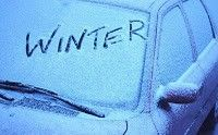 Spray vinegar on windshield before a winter storm & car windows will not frost over.  Click on link for more winter car tips.