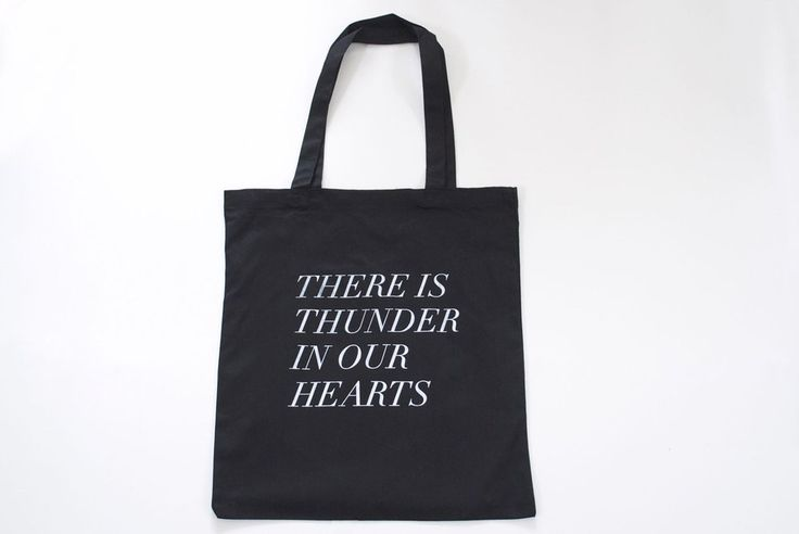 fieldguided - thunder in our hearts tote in black (Made in Canada)