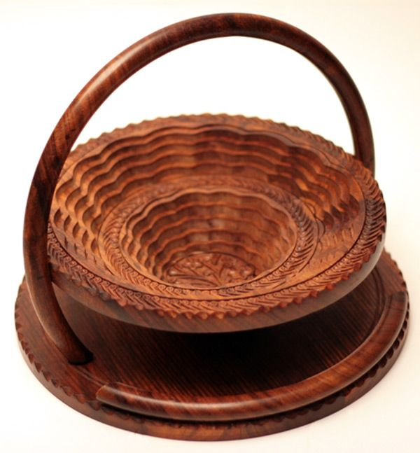 """12"""" Collapsible Basket/Trivet with 1 double step, from Wood Signature"""