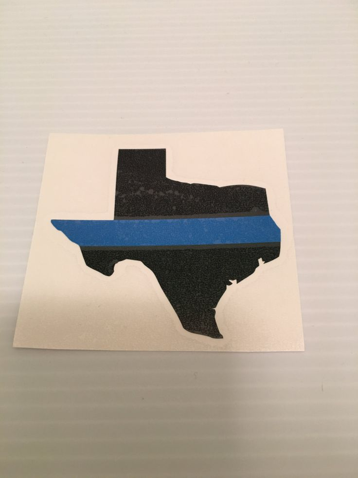 Thin blue line Texas, Thin blue line decal, custom state decal, leo support, window decal, state window decal, thin blue line window decal by IdahoEmbroidery on Etsy