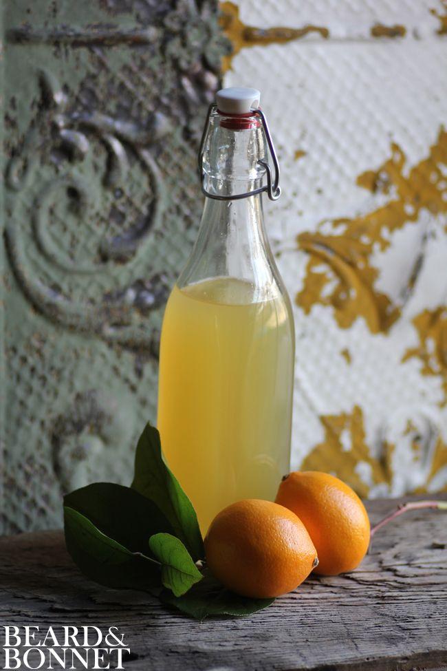 Meyer Lemon Basil Syrup {Beard and Bonnet} #glutenfree #vegan