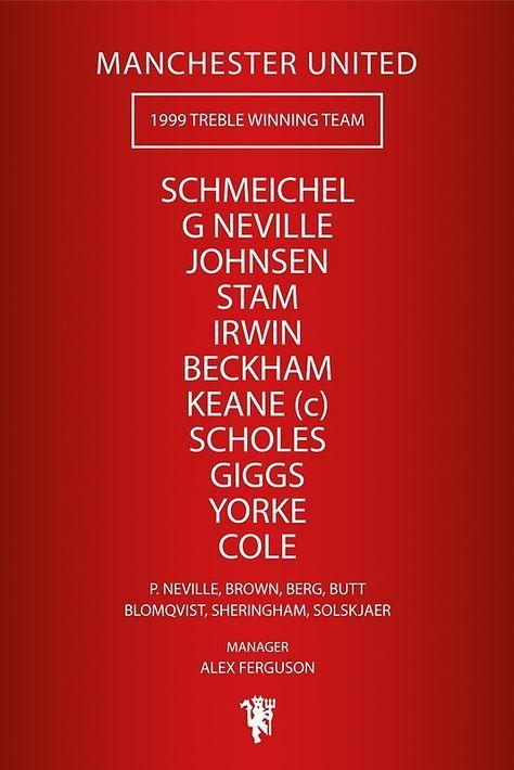 Manchester United - 1999 Treble Winning Team