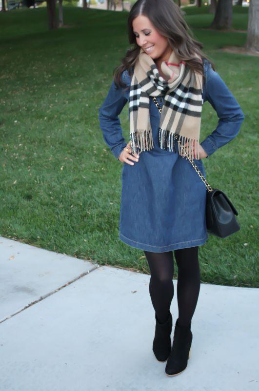 stunning outfit denim dress 13