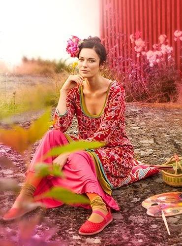 Gudrun Sjöden - mir gefällt die Art, wie sie mit Farben und Ornamenten spielt
