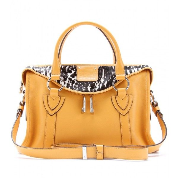 Marc Jacobs Small Fluton Haircalf And Leather Tote via Polyvore