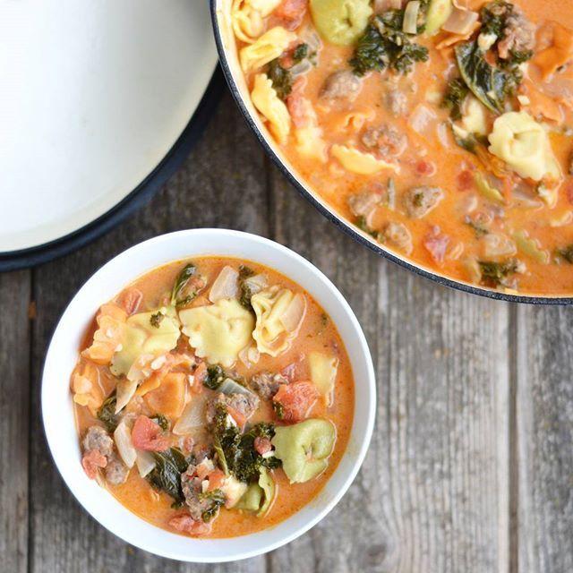 Creamy Tomato Tortellini Soup again.