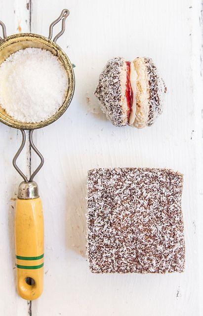 Lamington Biscuits by raspberri cupcakes, via Flickr