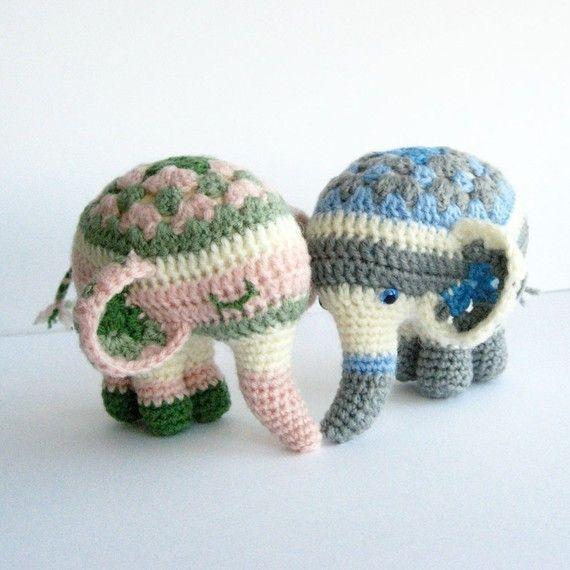 Noodle The Elephant  Amigurumi Pattern by irenestrange on Etsy