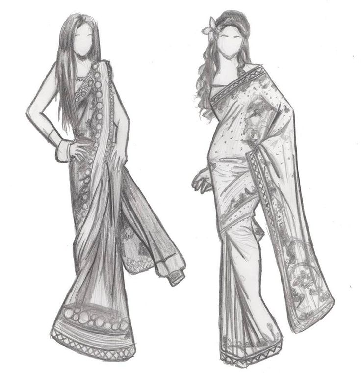indian fashion sketches by iburntmytoast on deviantart