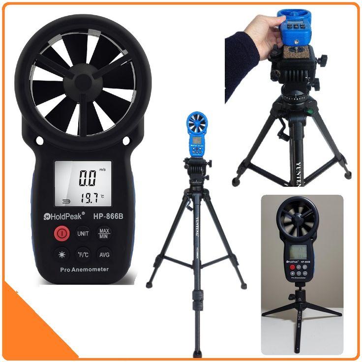 Holdpeak 866b digital anemometer angin speed meter mengukur kecepatan angin yang terbaik suhu angin dingin dengan backlight