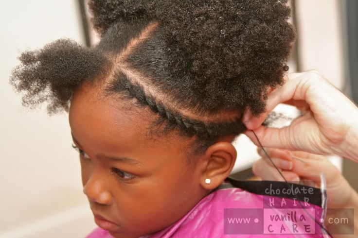 Flat African Hair Threading: Hairstyle and How-To Chocolate Hair ...