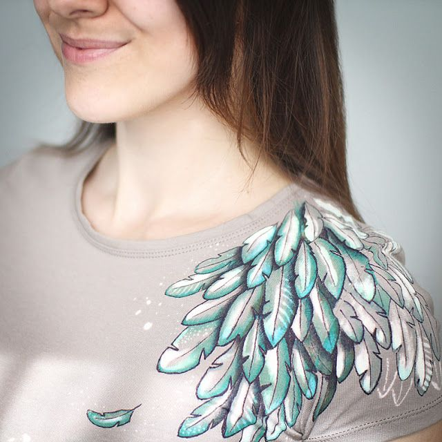 Mandarin Duck: Feather T-shirt Design by Mandarin Duck
