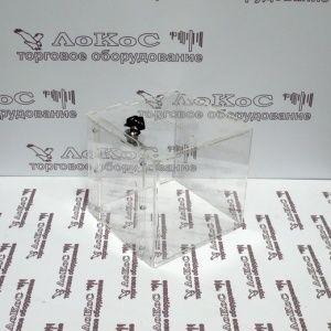 Ящик для сбора анкет (пожертвований) 150*150*150мм, прозрачный, ЯСП 150*150*150 АРТИКУЛ ЯСП 150*150*150 ОПИСАНИЕ Ящик для пожертвований (сбора анкет), имеет узкую прорезь в верхней части, с боковой стороны дверку на замке для выемки пожертвований (анкет), в задней части отверстие для крепления на стену (или другие поверхности). Материал - прозрачный акрил 2 мм. Размеры - 150х150х150 мм. ПРОИЗВОДИТЕЛЬ РОССИЯ