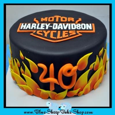 Harley Davidson Cake By BlueSheepBakeShop on CakeCentral.com