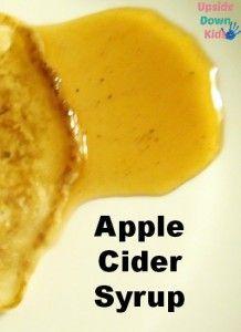 Apple Cider Syrup Recipie