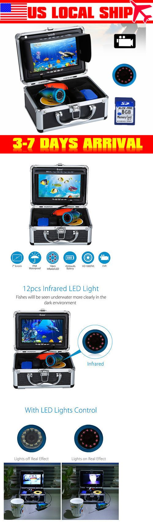 Underwater Cameras 180000: Eyoyo 7 Infrared Underwater Ice Lake Fish Finder Video Camera Dvr+4Gb Card Us! -> BUY IT NOW ONLY: $142.89 on eBay!