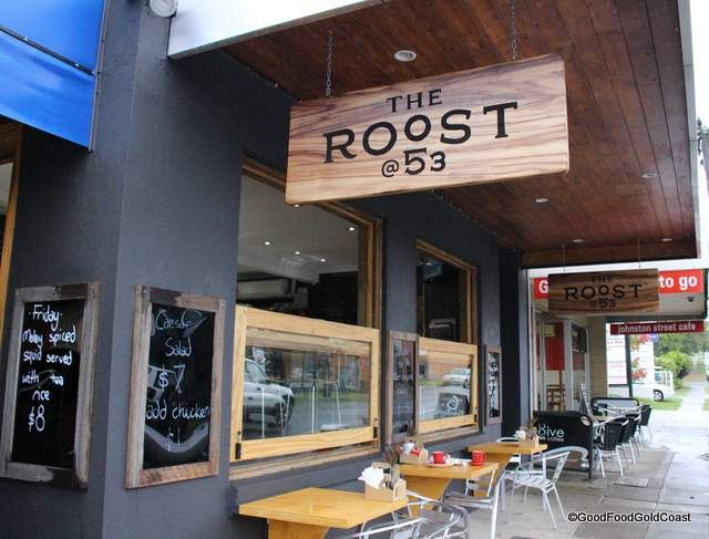 The Roost @ 53, Southport, baking bread and making food from scratch for the passing tradie trade. Top homemade nosh!