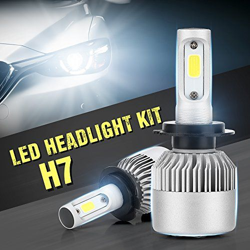 H7 LED Headlight Conversion Blub Kit, Auto Car Led Headlamp Car COB Bulbs, 6000K 9W-36W Cool White 7600LM, All-in-One Error Free Design (H7)  Wattage: 60W/Pair,30W/Bulb; Long range:6000K color temperature and 200m light range.  LARGE AREA OF ALUMINUN SUBSTRATE + CUSTOM SUPER BRIGHT COB LIGHT SOURCE;high speed silent fan, directional charge air cooling;Drive integration, service life of up to 30000 hours  All-IN-ONE DESIGN,EASY TO INSTALL: you can install it within 15 minutes. It is plu...