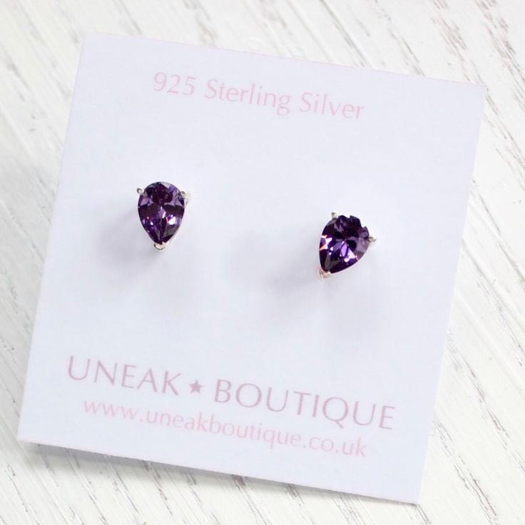 ✨Teardrops of Amethyst Sterling Silver Earrings online at Uneak Boutique ✨