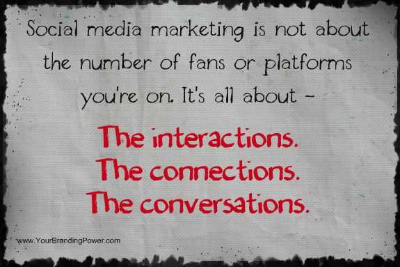 What is social media marketing about? The interactions! #socialmedia