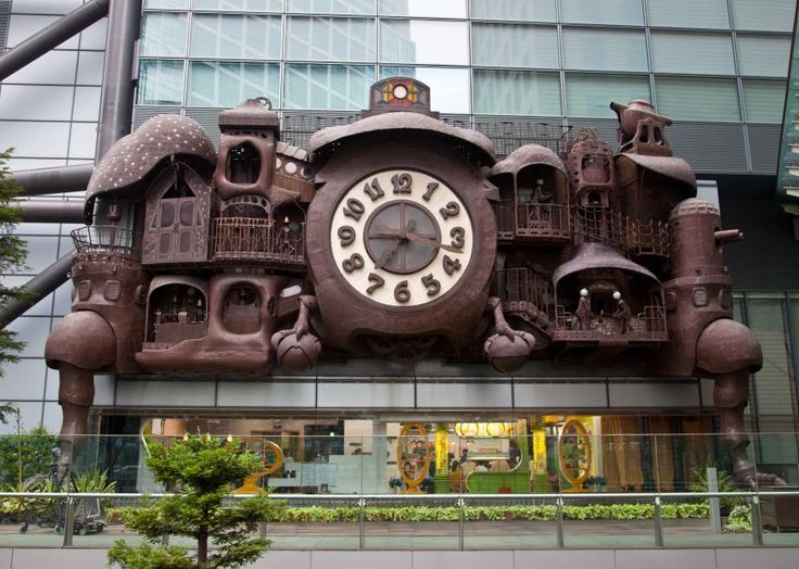 "A Vaudeville-cuckoo clock-steampunk-Victorian curio cabinet time piece at the Nippon TV Tower in Shiodome, Tokyo. Officially called the ""NI-TELE Really BIG Clock,"" four or five times a day this wacked-out symphonic mega-machine spins, dances, whirs and clanks. And as a side gig, it also tells the time."