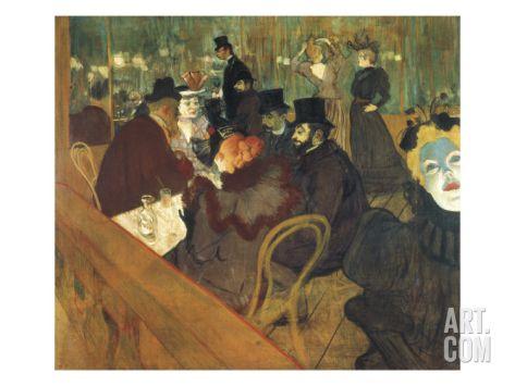 At the Moulin Rouge Giclee Print by Henri de Toulouse-Lautrec at Art.com