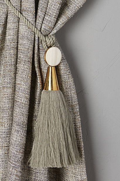 Curtains Ideas anthropologie curtain tie backs : 17 Best images about curtain on Pinterest | Grey curtains, Linens ...