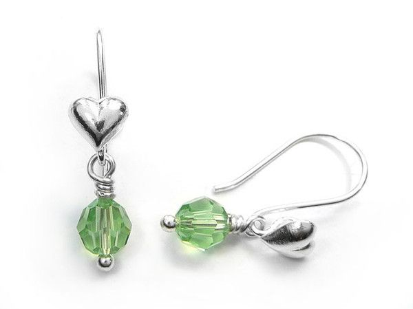 Birthstone Earrings - August Peridot