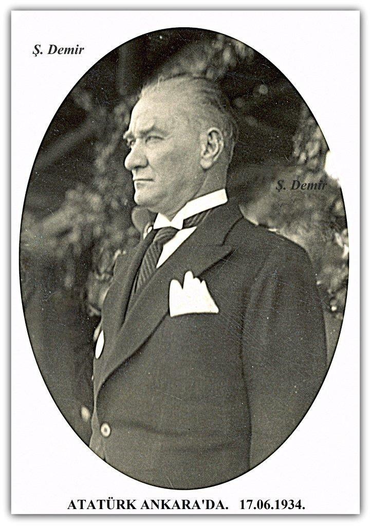 Atatürk Ankara'da. 17.06.1934