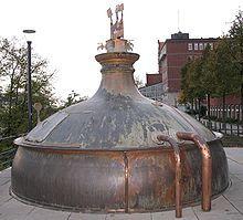 Olla de cocció antiga a Holsten-Brauerei Hamburg